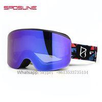 Custom UV400 Full HD Dex Anti-fog Snow Windproof Skiing Goggles For Children thumbnail image