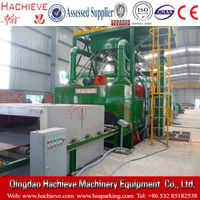 Steel plate rust shot blasting cleaning machine