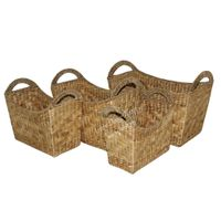 Water hyacinth basket for home decor and furniture - SD5880A-4NA