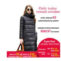 Duck down jacket for women winter 2019 women long overcoat coats Casual ultra-thin warm