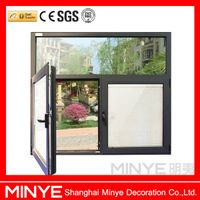 aluminum profile electric blinds glass windows