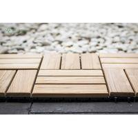 Indonesia Solid Teak Wood Garden Tile Outdoor Flooring