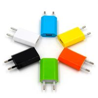 CE RoHS 5V 1A EU Wall Charger Fast Charger For iPhone Samsung Mobile Phone thumbnail image
