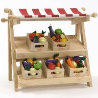 Toys wooden display stand