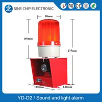 Audible and visual alarm strobe siren , sound and light alarm