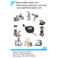 retractable ac power cord reel,tangle free retractor for home appliance