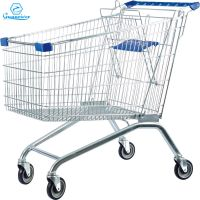 Zinc Plated European shopping trolley supermarket trolleys 150L thumbnail image