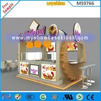 12x10feet food kiosk design waffle land kiosk for sale from China thumbnail image