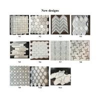 New design WHITE MARBLE MOSAIC
