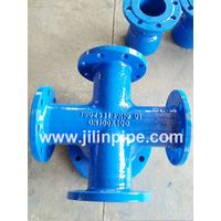 All-flanged Cross ductile iron pipe fittings ISO2531 BSEN545 BSEN598 thumbnail image