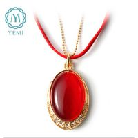 2014 Fashionable Semi-Preciouse Stone Drop Pendant Necklace Personalized Statement Jewelry
