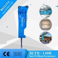 BLTB140 Silenced rock breaker for excavator.(silenced type breaker)