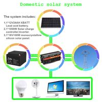 1000W Domestic solar system battery inverter Solar panels