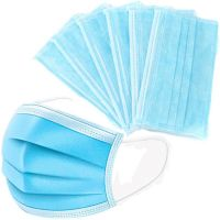 3 Ply Non-woven Fabric Health Earloop Virus Protective Disposable Face Mask in Stock