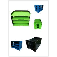 Modern muti-use light weight office eco-friendly PP foam 3 layers file holder