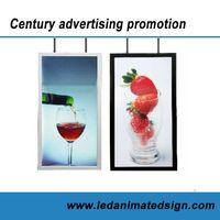 Led illuminated advertising light box