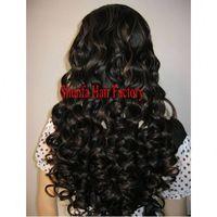 human hair 20'' #1b silk top base full lace wig thumbnail image