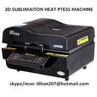 3D vacuum sublimation heat transfer heat press machine for mug phone case