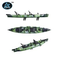 Dual Boat UBP-K6 with Double Seats and Pedal Proplusion System with Kick-up Fins