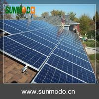 anodized aluminum solar panel mounting structure