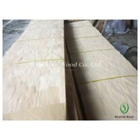 Finger jointed rubberwood veneer