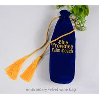 embroidery velvet wine bottle bag