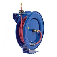 Coxreels Air/Water Hose Reel - With 3/8in. x 50ft. PVC Hose, Max. 250 PSI