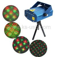 2-colors Mini Disco DJ Club Stage Light with Sound Active Function (YX-08) thumbnail image