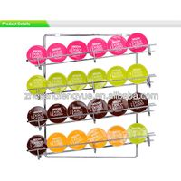 wall mounted Dolce Gusto coffee capsule rack