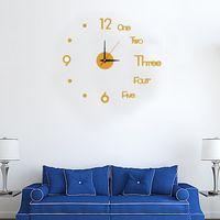 Home decoration Popular creative acrylic 3D wall clock DIY clock mute wall clock thumbnail image