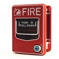 Resettable DC24V Manual Call Point Pull Station Fire Alarm Button HS-SB116 thumbnail image