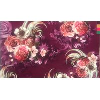 100% polyester WOOL DOBBY digital PRINTING fabric for ladies dress thumbnail image
