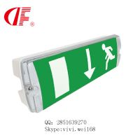 LED waterproof exit sign, IP66 emergency headbulk, 8W3hours for Europe market