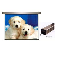 Wall mount Electric Projector Screen with White Steel Case thumbnail image