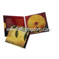 Customzied leather cd dvd box with disc replication printed
