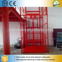 Leading goods guide lift elevator  cargo lift hydraulic guide rail lift table
