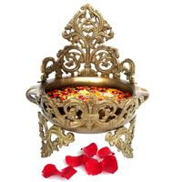 Decorative Brass Urli - Floating Flower Pot by Aakrati