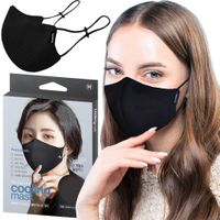 Top Quality 3-Ply Black White Reusable Washable Cloth Fabric Face Mask (Made in South Korea) thumbnail image