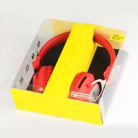 Retail selling hard plastic packaging box for packing earphone products