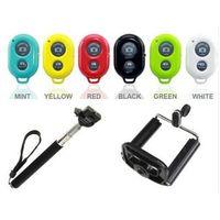 SELFIE STICK + BLUETOOTH SHUTTER REMOTE TELESCOPIC MONOPOD GO PRO iPhone Samsung thumbnail image