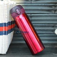 500ml Travel Coffee Flask Stainless Steel Vacuum Insulated push botton drinking sport bottles Hangzh thumbnail image