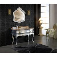 Silver Foil Bathroom Mirrored Cabinet Furniture OL-319