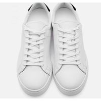 5.5CM UNISEX WHITE LEATHER ELEVATOR SNEAKERS CL0007