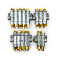 SANLANG 2-5 outlets Volumetric quantitative distributor/separate valve for lubrication system/CNC