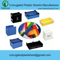 PP corrugated plastic sheet and box,PP twin wall corrugated hollow sheet