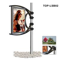 Outdoor Lamp Pole Scrolling Advertising Panel