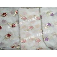 New design high quality Organza Jacquard fabric for ladies skirt fashion dress and Garment