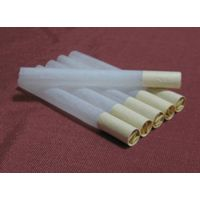 cigarette tube with w form paper tips