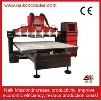 six spindles aluminum cnc cutting machine