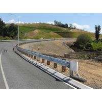 w beam galvanized highway guardrail thumbnail image